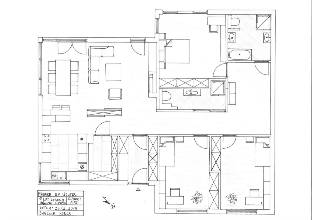 Plattegrond beganegrond inrichting en indeling woonhuis, aanvraag