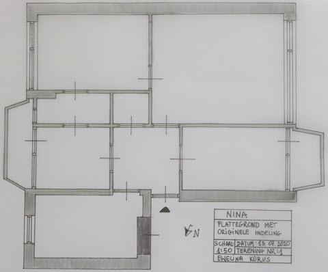 Plattegrond met originele indeling