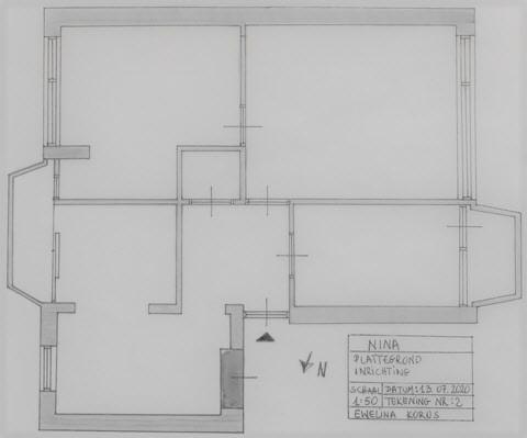 Szkic apartamentu wykonany przez Interisfeer
