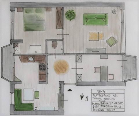 Aranżacja apartamentu w kolorze wykonana przez Interisfeer