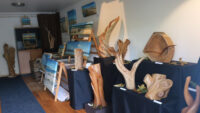 Exposition styling wood & art