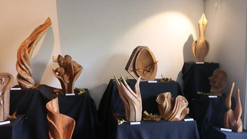 expositie styling met lichtval