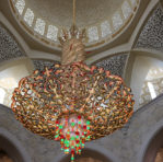 colored chandelier in Abu Dhabi for inspiration