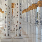 painted columns with gold leaf in Abu Dhabi for inspiration