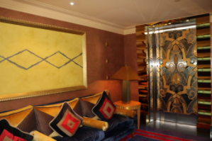 Inspiration inviting room next to gold elevator Burj al Arab