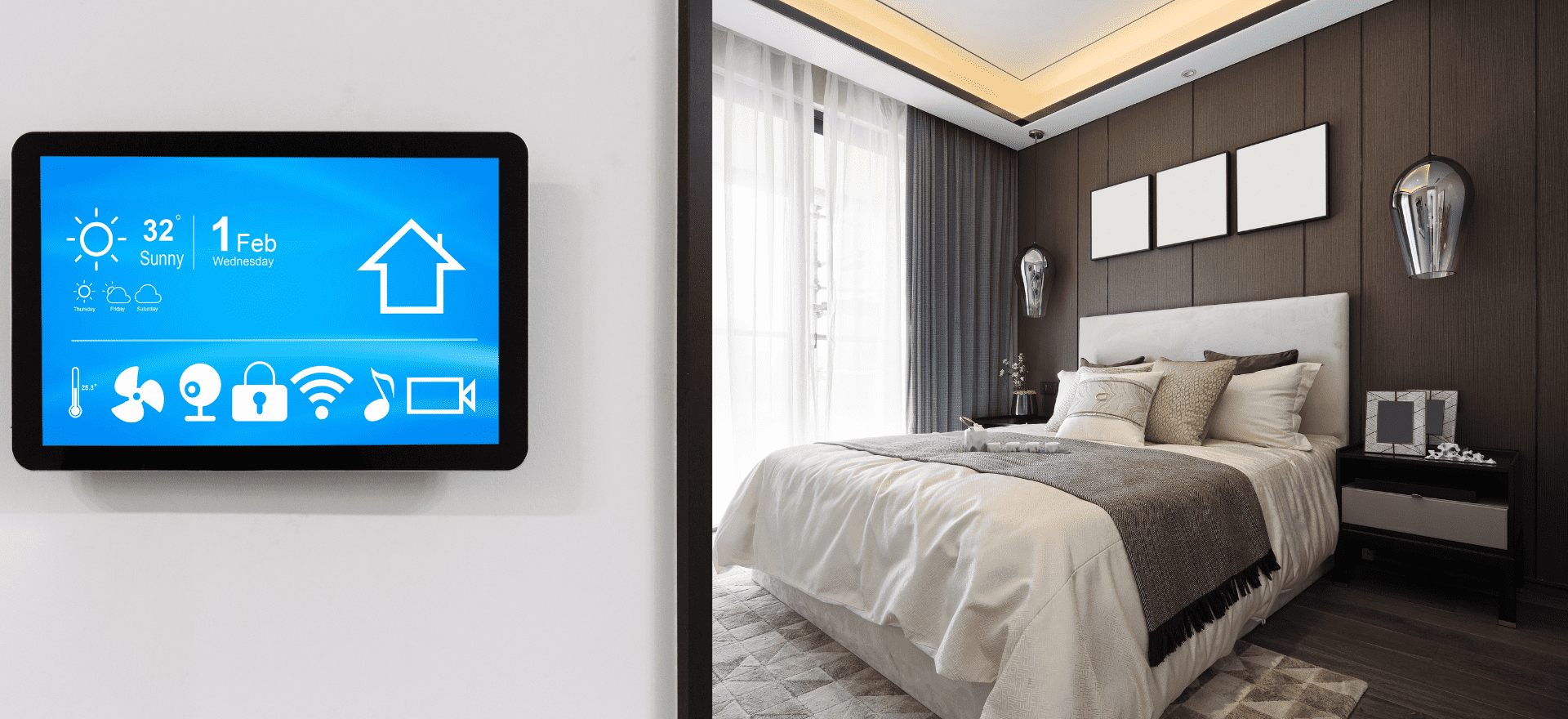 smart home - screen