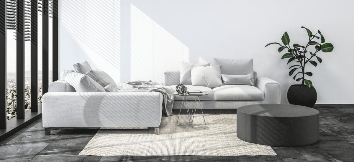 livingroom with shadow