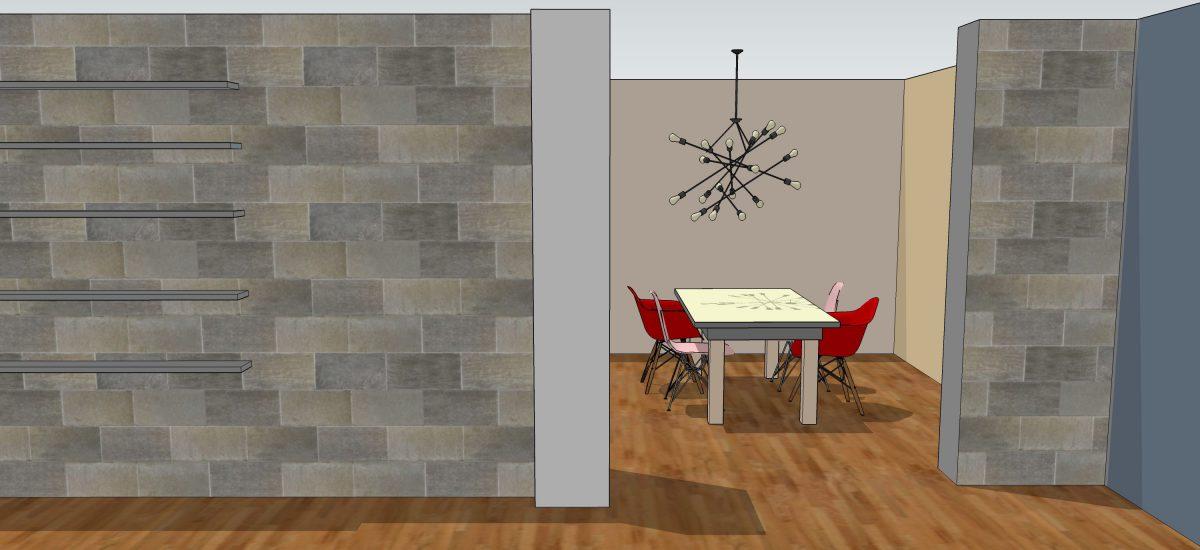 3d tekening keuken gemaakt door Interisfeer